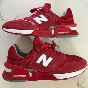 New Balance Men's 997S Team Red Suede Sneakers